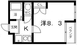 高敷マンション[303号室号室]の間取り