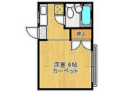 コーポ二階堂[1階]の間取り