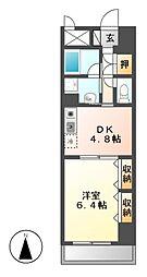 エスタシオン御器所[6階]の間取り