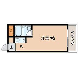 奈良県生駒郡斑鳩町興留9丁目の賃貸マンションの間取り