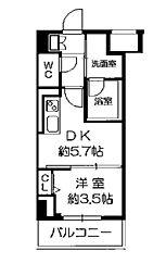 Osaka Metro長堀鶴見緑地線 西長堀駅 徒歩3分の賃貸マンション 9階1DKの間取り