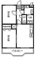 新城フェリー1[306号室]の間取り