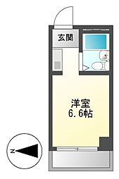 ドール豊[5階]の間取り