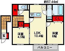 華[2階]の間取り