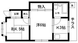 RIKKU松籟荘[101号室]の間取り