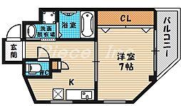 大阪府大阪市北区長柄東3の賃貸マンションの間取り