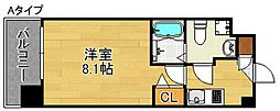 FDS WILL KOHAMA 4階1Kの間取り
