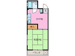 レジデンス和田[4階]の間取り