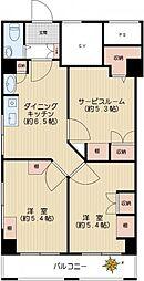 久保田マンション[2階]の間取り