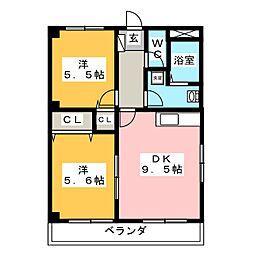 メゾンドスイートII[2階]の間取り