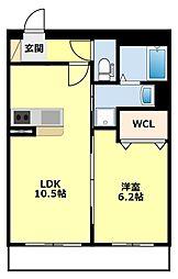 仮)浄水マンション[305号室]の間取り