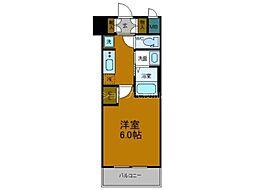 Osaka Metro中央線 弁天町駅 徒歩10分の賃貸マンション 3階1Kの間取り