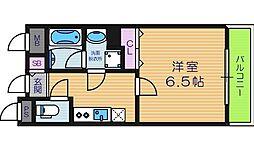 大阪府大阪市東住吉区田辺6丁目の賃貸マンションの間取り