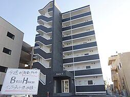 福岡県八女市蒲原の賃貸マンションの外観