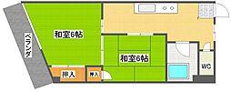 シャインマンション帝塚山[3階]の間取り