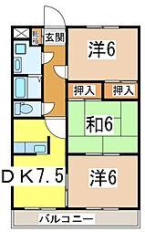 静岡県沼津市西添町の賃貸マンションの間取り