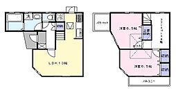 [テラスハウス] 千葉県市川市北国分3丁目 の賃貸【/】の間取り