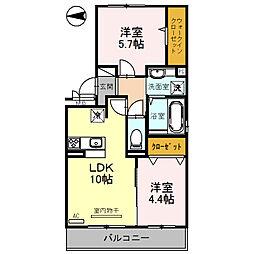 仮)D-room浦堂[2階]の間取り