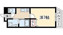 阪急京都本線 淡路駅 徒歩6分の賃貸マンション 6階1Kの間取り