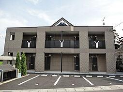栃木県下野市仁良川の賃貸アパートの外観