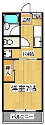 ラ・カーサ田尻[1階]の間取り