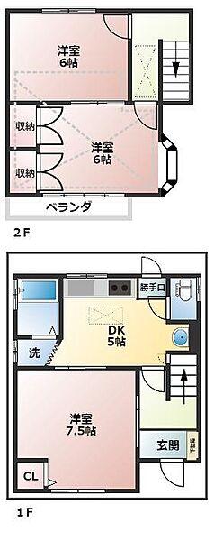 [一戸建] 東京都小平市鈴木町2丁目 の賃貸【東京都 / 小平市】の間取り
