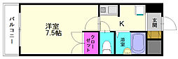 福岡県春日市春日原北町4丁目の賃貸マンションの間取り