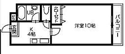 あべハイツII[16号室]の間取り