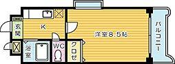 第9エルザビル[501号室]の間取り