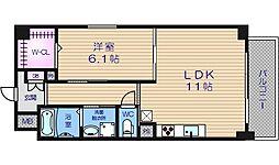 アベニール四天王寺[5階]の間取り