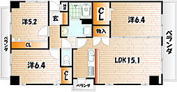 THE SQUARE Suite Residence[7階]の間取り
