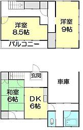 [一戸建] 千葉県野田市桐ヶ作 の賃貸【/】の間取り