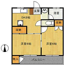まるだい荘[3階]の間取り
