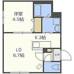 仮)東札幌1・6B[2階]の間取り