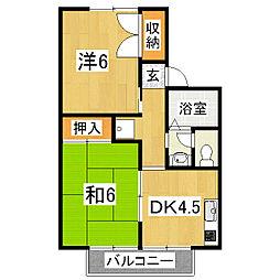 セジュールつつみA棟[2階]の間取り