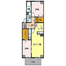 レスポワールII[2階]の間取り