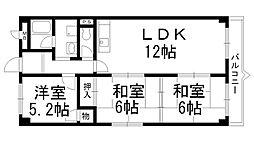 ソシアハイツOKUDA[0403号室]の間取り