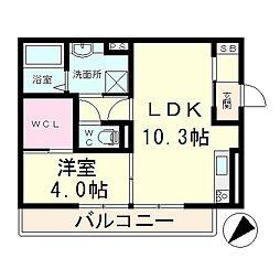 Le Ciel2[3階]の間取り