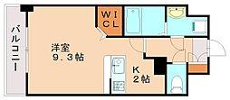 JR鹿児島本線 箱崎駅 バス15分 内橋下車 徒歩1分の賃貸マンション 2階1Kの間取り