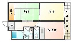福住マンション[4階]の間取り