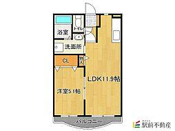 パークマンション山浦[3階]の間取り