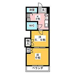 レジデンスカープ名古屋[10階]の間取り