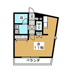 グランヒル台原II[3階]の間取り