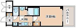 JR山陽本線 兵庫駅 徒歩10分の賃貸マンション 11階1Kの間取り