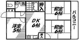 Osaka Metro谷町線 守口駅 徒歩4分の賃貸マンション 4階3DKの間取り