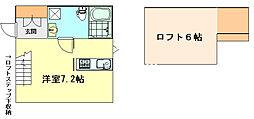 プリマ神戸北[104号室]の間取り