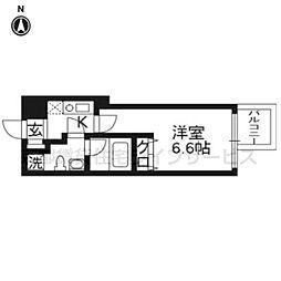 プレサンスNEO京都烏丸[6階]の間取り