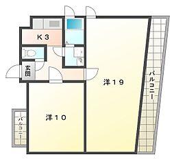 喜多村ビル[4階]の間取り
