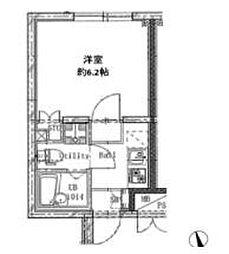 京急本線 平和島駅 徒歩7分の賃貸マンション 2階1Kの間取り