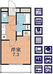 ラパンジール四天王寺東[3階]の間取り